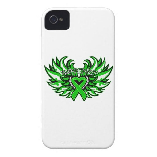Spinal Cord Injury Awareness Heart Wings iPhone 4 Case-Mate Case