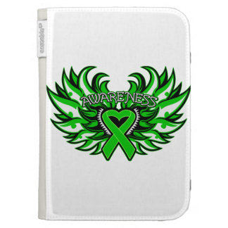 Spinal Cord Injury Awareness Heart Wings Kindle Case