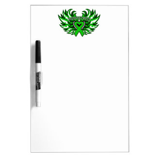 Spinal Cord Injury Awareness Heart Wings Dry Erase Whiteboard