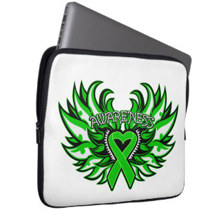 Spinal Cord Injury Awareness Heart Wings Computer Sleeve