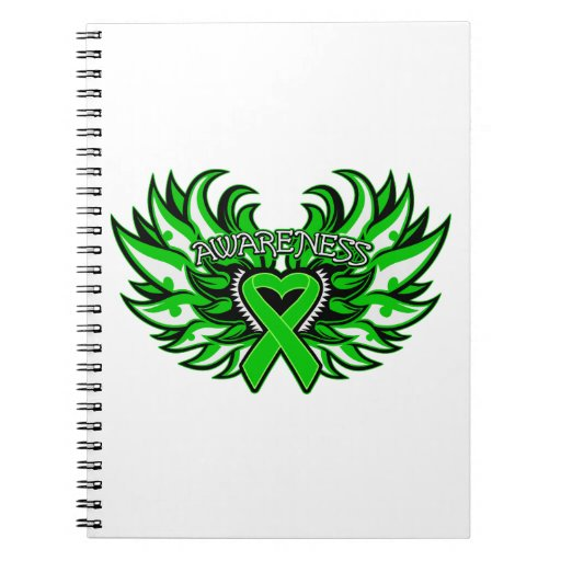 Spinal Cord Injury Awareness Heart Wings Spiral Notebook