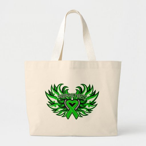 Spinal Cord Injury Awareness Heart Wings.png Canvas Bags