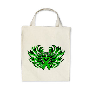Spinal Cord Injury Awareness Heart Wings png Bags