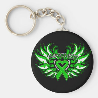 Spinal Cord Injury Awareness Heart Wings png Keychain
