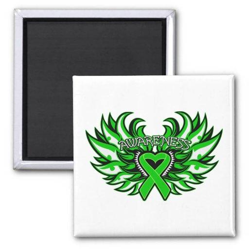 Spinal Cord Injury Awareness Heart Wings.png Fridge Magnet