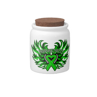 Spinal Cord Injury Awareness Heart Wings Candy Jars