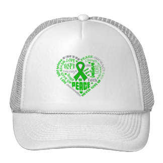 Spinal Cord Injury Awareness Heart Words Trucker Hats
