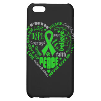 Spinal Cord Injury Awareness Heart Words Cover For iPhone 5C