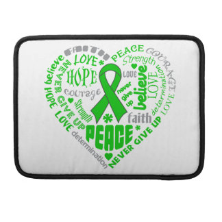 Spinal Cord Injury Awareness Heart Words Sleeve For MacBooks