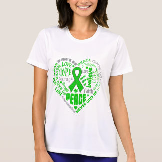 Spinal Cord Injury Awareness Heart Words T-shirt