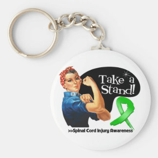 Spinal Cord Injury Awareness Take a Stand Key Chains