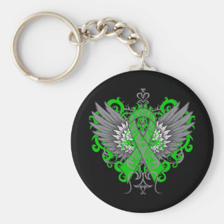 Spinal Cord Injury Awareness Wings Key Chains