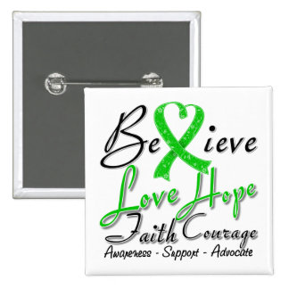 Spinal Cord Injury Believe Heart Collage Pin