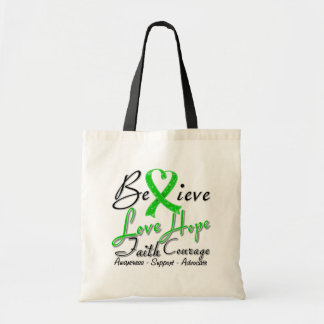 Spinal Cord Injury Believe Heart Collage Canvas Bag