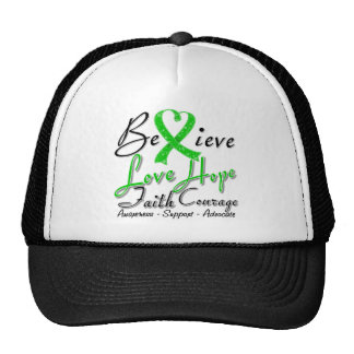 Spinal Cord Injury Believe Heart Collage Hats