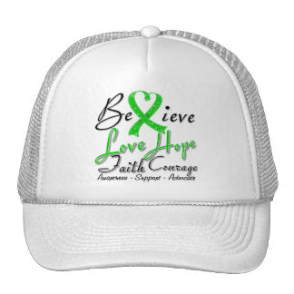 Spinal Cord Injury Believe Heart Collage Trucker Hats