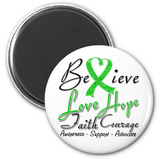 Spinal Cord Injury Believe Heart Collage Fridge Magnets
