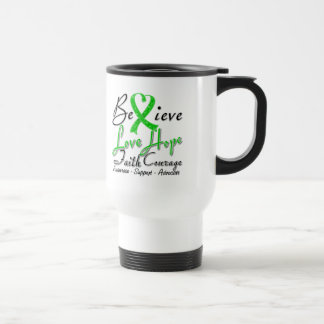 Spinal Cord Injury Believe Heart Collage Mug