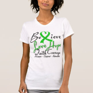 Spinal Cord Injury Believe Heart Collage Tee Shirt