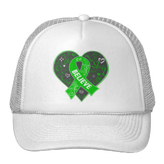 Spinal Cord Injury Believe Ribbon Heart Cap