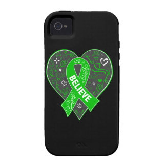 Spinal Cord Injury Believe Ribbon Heart Case-Mate iPhone 4 Cover