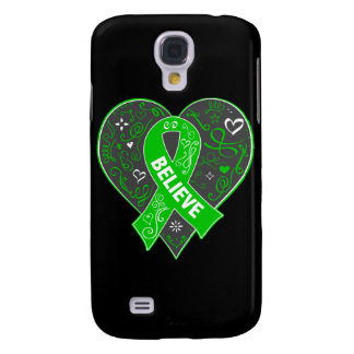 Spinal Cord Injury Believe Ribbon Heart Galaxy S4 Case
