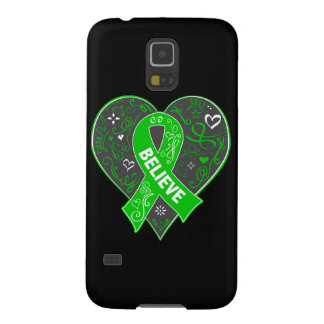 Spinal Cord Injury Believe Ribbon Heart Galaxy S5 Covers