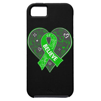 Spinal Cord Injury Believe Ribbon Heart iPhone 5 Cases