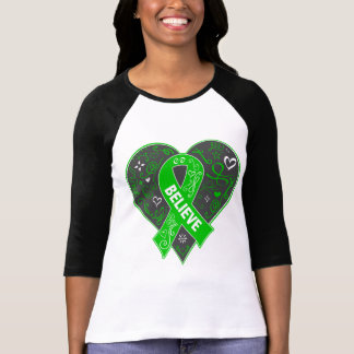 Spinal Cord Injury Believe Ribbon Heart T Shirts