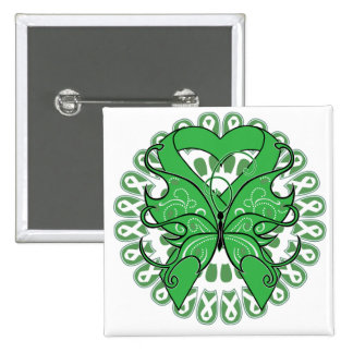 Spinal Cord Injury Butterfly Circle of Ribbons Pinback Button