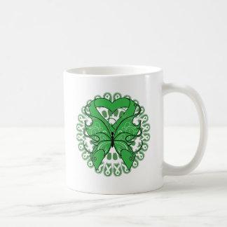 Spinal Cord Injury Butterfly Circle of Ribbons Coffee Mug
