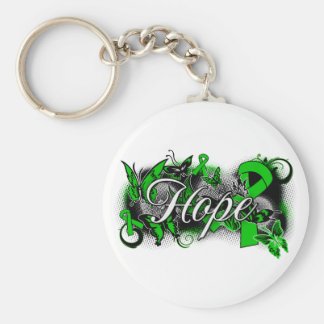 Spinal Cord Injury Garden Ribbon Key Chains