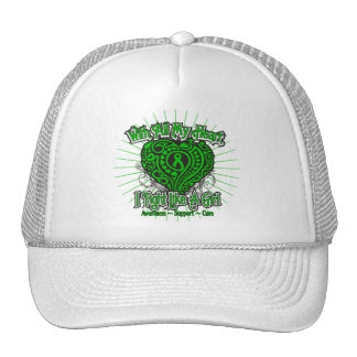 Spinal Cord Injury Heart I Fight Like A Girl Trucker Hats