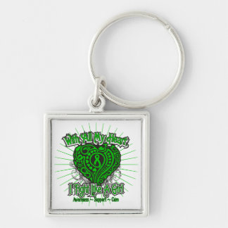 Spinal Cord Injury Heart I Fight Like A Girl Key Chain