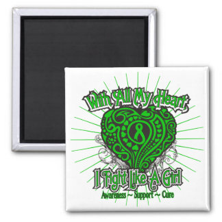 Spinal Cord Injury Heart I Fight Like A Girl Refrigerator Magnets