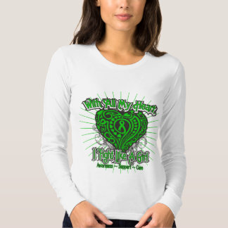 Spinal Cord Injury Heart I Fight Like A Girl Tee Shirts