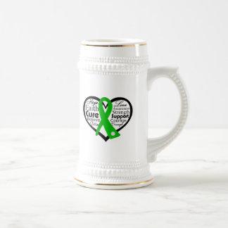Spinal Cord Injury Heart Ribbon Collage Coffee Mugs