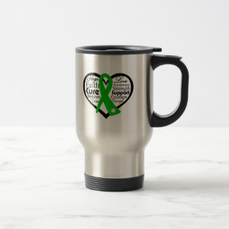 Spinal Cord Injury Heart Ribbon Collage Stainless Steel Travel Mug