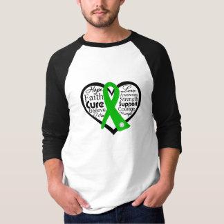 Spinal Cord Injury Heart Ribbon Collage T-shirts