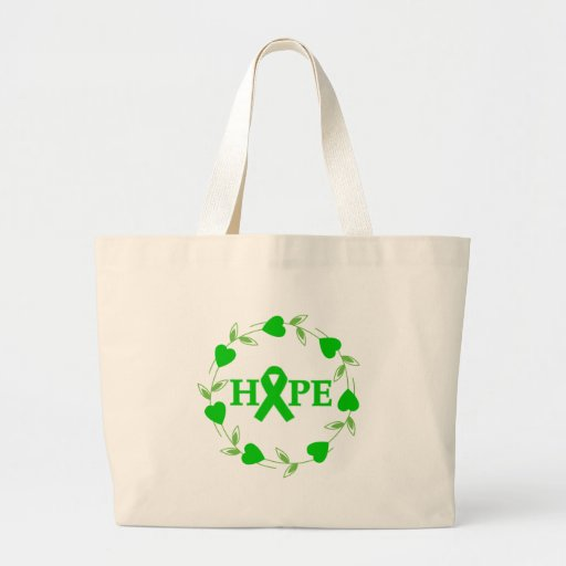 Spinal Cord Injury Hearts of Hope Canvas Bags
