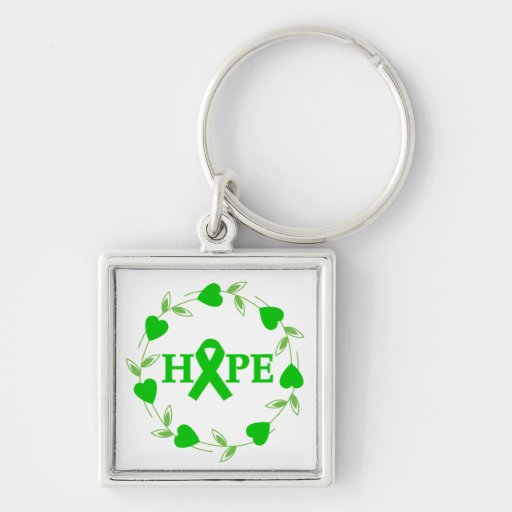 Spinal Cord Injury Hearts of Hope Keychain