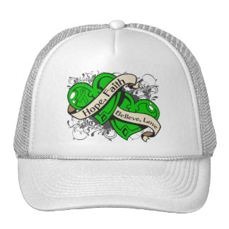 Spinal Cord Injury Hope Faith Dual Hearts Trucker Hat