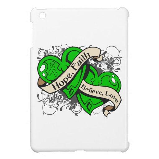 Spinal Cord Injury Hope Faith Dual Hearts iPad Mini Case