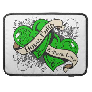 Spinal Cord Injury Hope Faith Dual Hearts MacBook Pro Sleeve