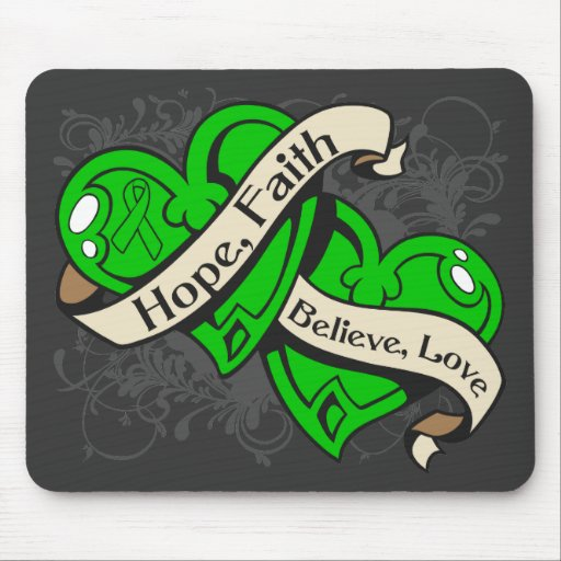 Spinal Cord Injury Hope Faith Dual Hearts Mousepads