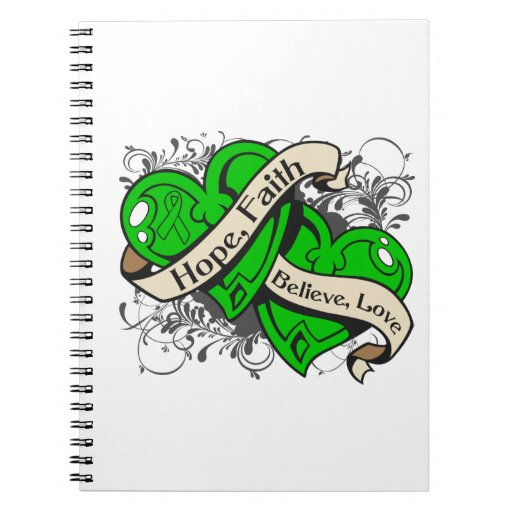 Spinal Cord Injury Hope Faith Dual Hearts Spiral Note Books