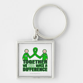 Spinal Cord Injury We'll Make A Difference Silver-Colored Square Key Ring