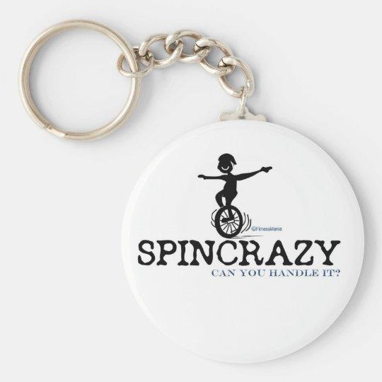 SPINCRAZY BASIC ROUND BUTTON KEY RING