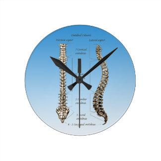 Spine Round Clock