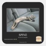 Spine Square Sticker